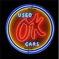 Ok Used Car With Metal Cabinet Neon Sign Manufacturer, Supplier