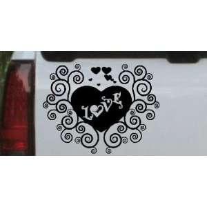 Heart Love Christian Car Window Wall Laptop Decal Sticker    Black