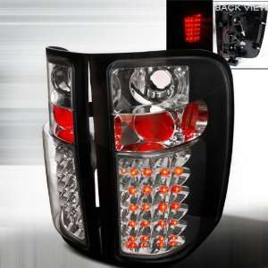 07 Up Chevy Silverado LED Altezza Tail Lights   Black