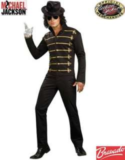 Adult Mens Michael Jackson Black Gold Military Jacket Clothing