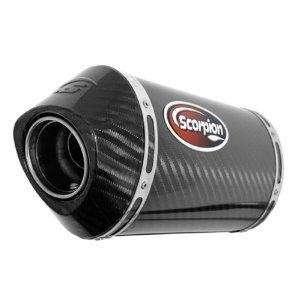 Scorpion Race Slip  On   Oval / Carbon Fiber / Carbon Fiber End Cap