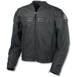 Mens Accelerent Leather Motorcycle Jacket Black Medium M 2810 1252