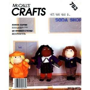 Pattern Soft Sculpture Doll School Clothes Arts, Crafts & Sewing
