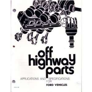 1963 1964 1965 1966 1967 FORD High Perform Parts Manual