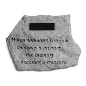 When Someone You Love Memorial Stone: Patio, Lawn & Garden