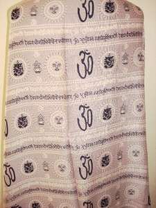 SIR ALISTAIR RAI Lavender Logo Prayer Scarf love New