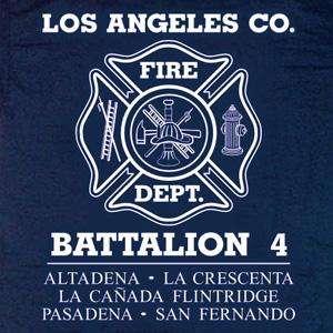 Los Angeles County Fire Dept. Battalion 4 T shirt L