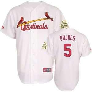 Albert Pujols Jersey St. Louis Cardinals #5 Big & Tall Home White