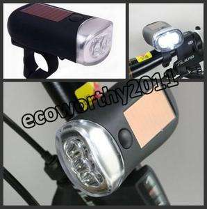 Dynamo and Solar Powered LED Bicycle/Bike Light + Standalone Torch