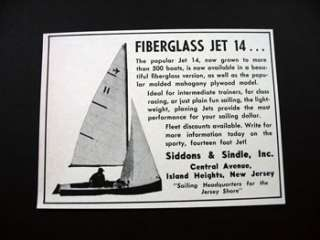 Fiberglass Jet 14 Sailboat Boat Sailing Sail print ad
