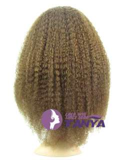 18 Full Lace Wig Afro Kinky Curls 100% Indian Remy Human Hair #4