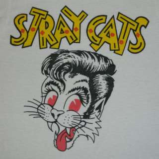 1981 STRAY CATS VINTAGE T SHIRT ROCKABILLY TOUR CONCERT