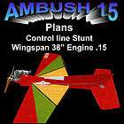 CONTROL LINE STUNT TRAINER AMBUSH 15 MODEL AIRPLANE PL