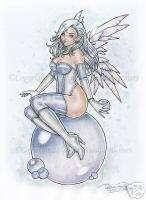 Pearl Angel Pinup Fairy Goth Fantasy PRINT DELPHINE art