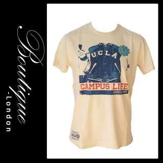 Logo Univsersity of California Campus Life T Shirt   Cream L