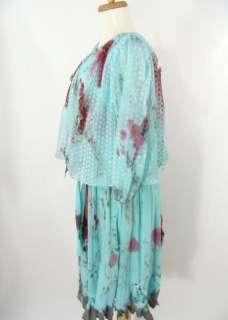 GIRL SECRETARY Blue Dress ZOMBIE WALK Halloween Costume M L XL
