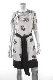 Pure DKNY Pale Grey Floral Dress Sz P NWT $245.00