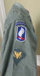 US Army 3rd Infantry 173rd Airborne w/ Basic Jump Wings Spec 4 Vietnam