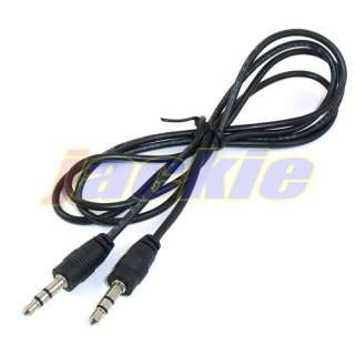 5mm MALE to MALE STEREO AUDIO AUX EXTENSION CABLE ADAPTER FOR IPOD