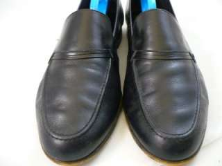 Bally Mens ZAR Black Calfskin Dress Shoes Loafers Size 11M |