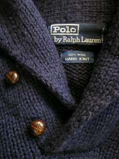POLO RALPH LAUREN SWEATER HAND KNIT WOOL LARGE 22x25 GUC