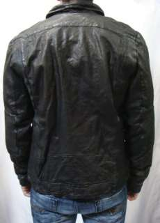 NWT DIESEL Brand Mens Black Genuine Sheep Leather Jacket Lalo
