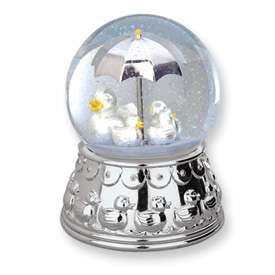 New Reed & Barton Baby Silver plated Duckie Water globe