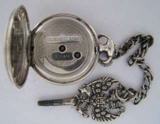 120 Years Old French Cylinder Antique SILVER KW/KS Pocket Watch