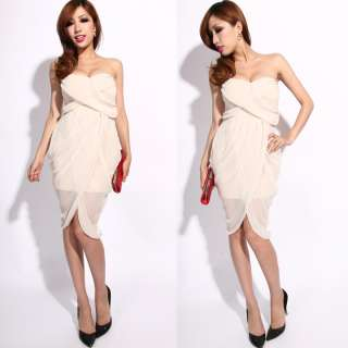 SEXY PADDED CHIFFON BUSTIER PARTY COCKTAIL DRESS 1480