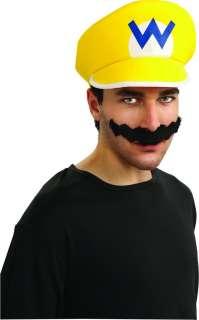 Super Mario Bros. Wario Hat & Moustache Kit *New*