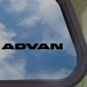Advan Black Decal JDM Drift Racing EVO Civic Car Sticker