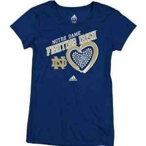 Adidas Notre Dame Fighting Irish Womens Heart Of Stones