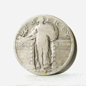 USA scarce 1927 S silver Standing Liberty Quarter Doll