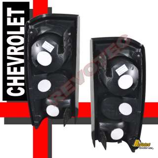 82 93 CHEVY S 10 91 93 GMC SONOMA TAIL LIGHTS BLK SMOKE