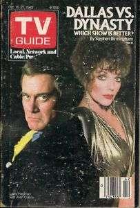 1983 TV GUIDE MAGAZINE LARRY HAGMAN & JOAN COLLINS FP