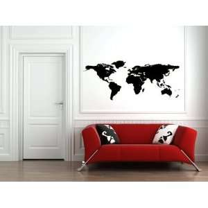 World Map Vinyl Wall Decal Sticker Graphic By LKS Trading