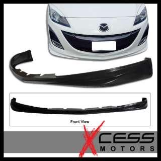 2009 2011 Mazda 3 Mazda3 Black Urethane Front Bumper Lip Spoiler PU