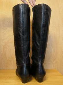 EUC ANN KLEIN iFlex Womens ALOE Wedge Heel Knee High Leather Boots 10