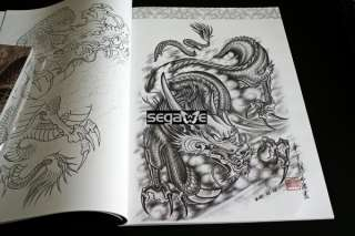 Oriental Dragons Tattoo Flash BOOK Art Magazine Sketch