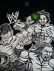 WWE  John Cena+Kofi Kingston+HHH Black Glow In The Dark T Shirt SZ 10