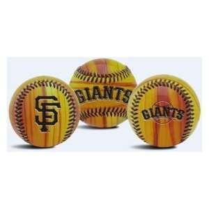 San Francisco Giants Wood Grain Baseball
