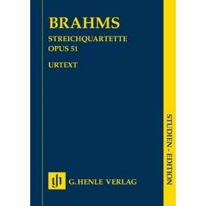 Brahms String Quartets op. 51 No. no. 1 in c minor · no
