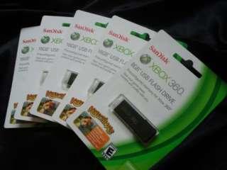XBOX 360 8GB 8 gb USB Flash Drive Memory Stick Official SanDisk Cruzer