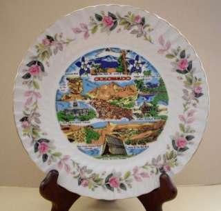 Creative Fine China Japan Colorado Pink Roses Plate #2345 NICE