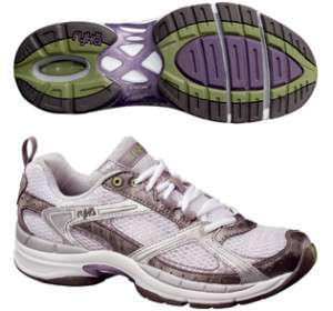 Ryka Womens Assist XT 2 Training Running Shoes Dark Grey Light Purple