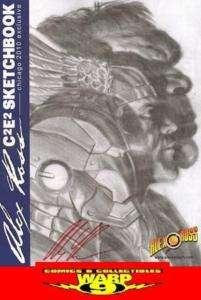 ALEX ROSS SIGNED ORIGINAL ART 2010 C2E2 SKETCHBOOK! 500