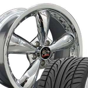 Bullitt Style Deep Dish Wheels and Tires with Rivets Fits