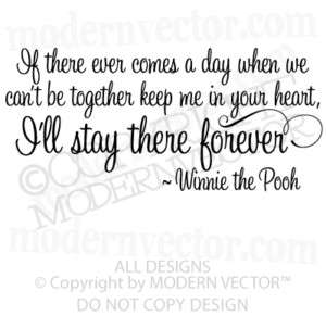WINNIE THE POOH Vinyl Wall Quote Decal STAY FOREVER