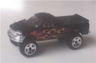 1997 Ford F150 Lifted 4x4 Hot Wheels Truck Black Flames Pickup
