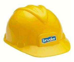 NEW Yellow Construction Helmet Hard Hat by Bruder Toys